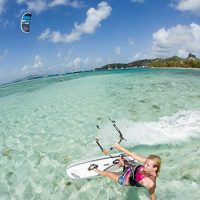 kitesurfing lessons gold coast riding kiteboard